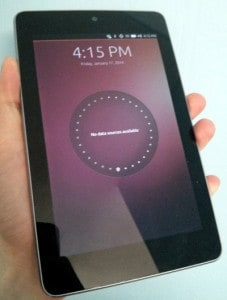 Ubuntu Touch on Nexus 7 (2012)